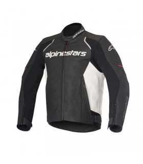 Alpinestars Devon Leather Jacket Black white