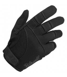 Biltwell schwarz Motorrad Sommer Handschuhe
