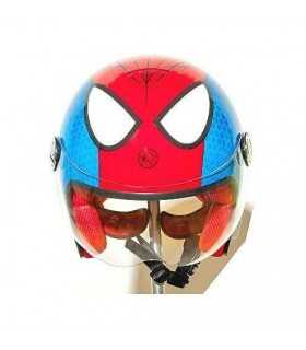 MOTO BAMBINI - Casco Moto Jet Bambino One Junior spiderman