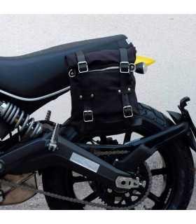 DUCATI - Unit Garage Borsa laterale + telaio Ducati Scrambler nera