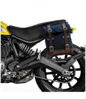 DUCATI - Unit Garage Borsa laterale + telaio Ducati Scrambler nero/marrone