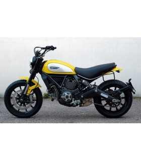 DUCATI - Unit Garage Borsa laterale + telaio Ducati Scrambler verde/marrone