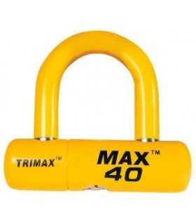BLOCCADISCO MOTO - TRIMAX LOCK-DISC U-LOCK YELLOW