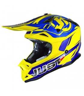 CASCHI MOTOCROSS ENDURO - Just-1 J32 Pro Rave Blu Giallo