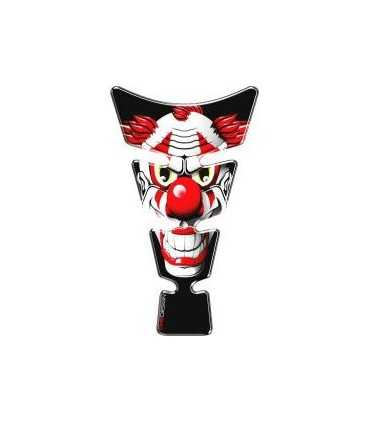 ONEDESIGN UNIVERSAL TANK PAD - GLOSS RED/WHITE/BLACK - RED CLOWN