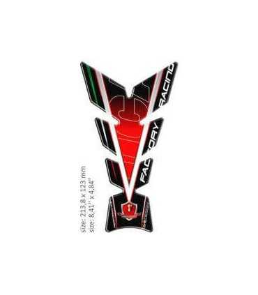 ONEDESIGN UNIVERSAL TANK PAD - GLOSS RED/BLACK/WHITE/GREEN - DUCATI