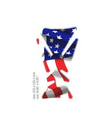 ONEDESIGN UNIVERSAL TANK PAD - GLOSS AMERICAN FLAG