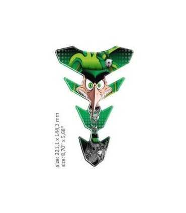ONEDESIGN UNIVERSAL TANK PAD - GLOSS GREEN/BLACK - FACE DESIG