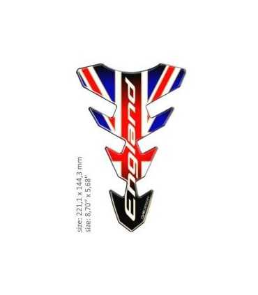 ONEDESIGN UNIVERSAL TANK PAD - GLOSS RED/BLUE/WHITE - ENGLAND DESIGN