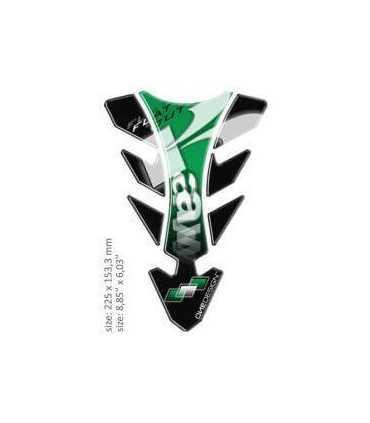 ONEDESIGN UNIVERSAL TANK PAD - GLOSS BLACK/GREEN/WHITE - KAWASAKI