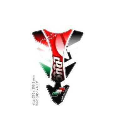 ONEDESIGN UNIVERSAL TANK PAD - GLOSS RED/GREEN/WHITE/BLACK - DUCATI
