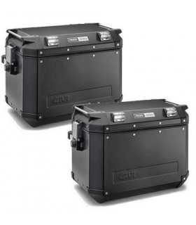 Givi Pair Of Side Cases Trekker Outback 48 Lt Aluminium black