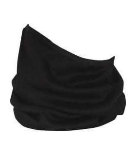 ZAN NECK GAITER FLEECE LINED ONE SIZE SOLID BLACK