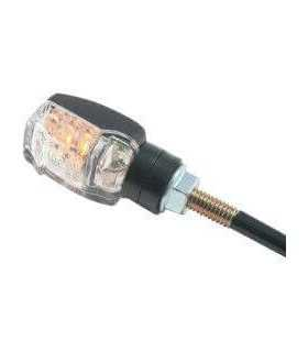 PAIRS LED CLEAR - LENS TURN SIGNAL / BLACK ECE APPROVED