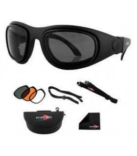 BOBSTER SPORT AND STREET 2 SUNGLASSES CONVERTIBLE MOTORCYCLE EYES