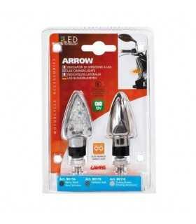 Arrow-2-Pfeilpaar zugelassen, Led-Richtungsanzeiger - 12V LED - Chrom