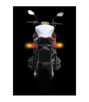Power View, multi-Led rear corner lights, 12V - black or Carbon