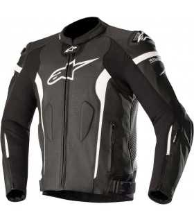 Alpinestars Missile Leather Jacket Tech-air Compatible black white