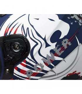 Casco da Bambino Moto Integrale CGM 215G Wild Bianco Blu Opaco SBK_23533 CGM CASCHI MOTO BAMBINO