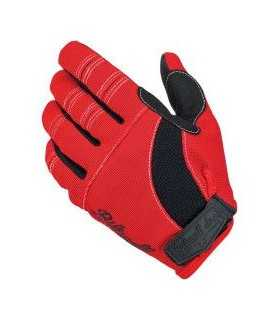 Biltwell moto gloves red