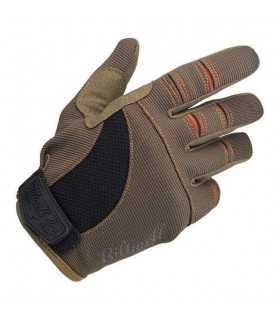 Biltwell guanti estivi moto marrone/arancio