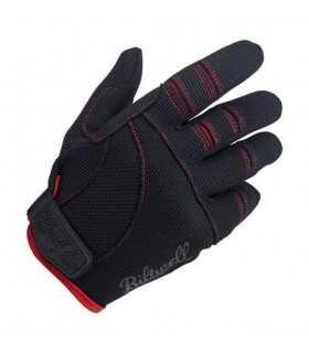 Biltwell guanti estivi moto nero rosso