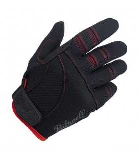 Biltwell moto gants noir rouge
