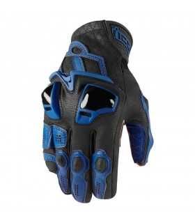 ICON GUANTI HYPERSPORT NERO BLU SBK_26466 ICON GUANTI MOTO ESTIVI