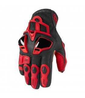 ICON GLOVES HYPERSPORT BLACK RED