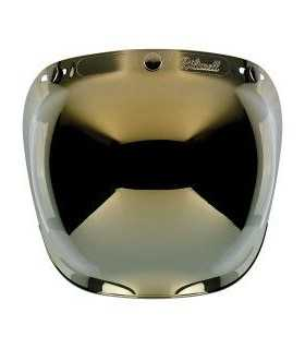 BILTWELL 3 BOTTONS BUBBLE VISOR ANTIFOG GOLD MIRROR