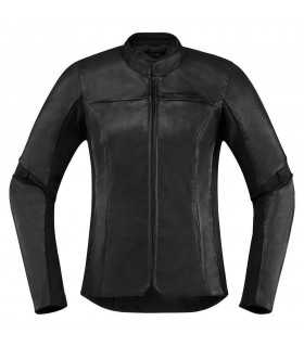 ICON OVERLORD LEATHER LADY BLACK