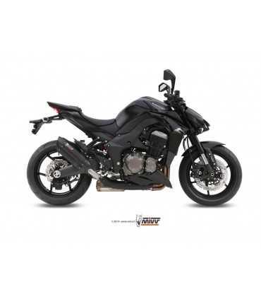 MIVV SUONO Steel Black Double Slip-On KAWASAKI Z 1000 2014 UP