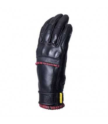 KNOX WHIP ARMOURED GLOVES BLACK/OXBLOOD DONNA