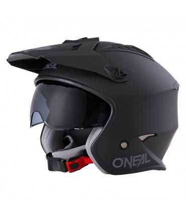 Casco jet O'neal Volt Color nero opaco