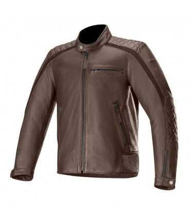 Leather jacket Alpinestars Hoxton V2 brown