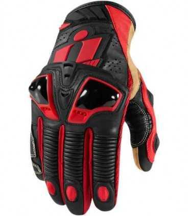 Icon Hypersport Short Glove Kangaroo red