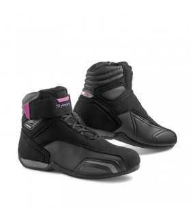 Scarpe moto Stylmartin Vector impermeabile nero rosa donna