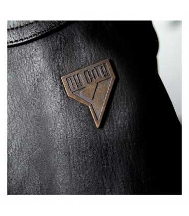 GIACCA IN PELLE MOTO BY CITY SAHARA MARRONE
