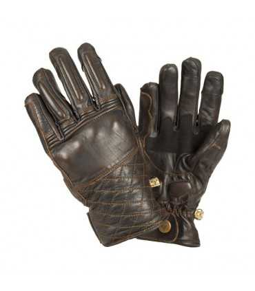 LEATHER GLOVES BY CITY CAFE BROWN