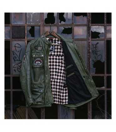GIACCA IN PELLE HOLY FREEDOM QUATTRO VERDE