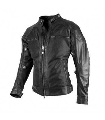 GIACCA IN PELLE MOTO BY CITY SAHARA NERO