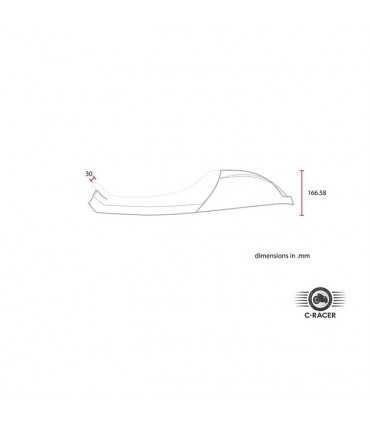 SEAT C-RACER TRIUMPH BONNEVILLE CAFE RACER