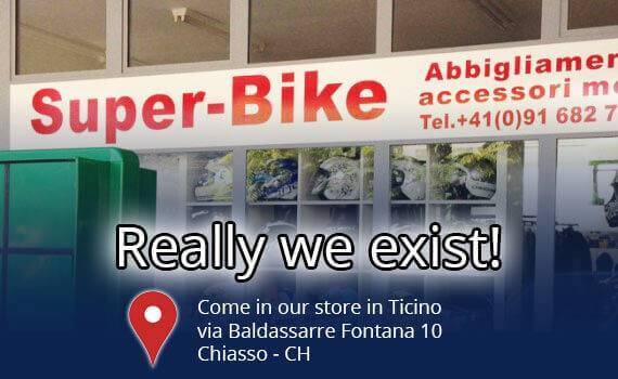Super-Bike, store in Chiasso, Ticino - Switzerland - we sell motorbike clothing and accessories.